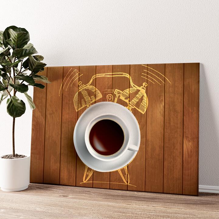 Kaffeewecker Wandbild personalisiert