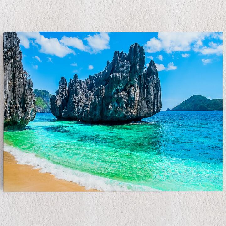 Personalisiertes Leinwandbild Philippinischer Strand