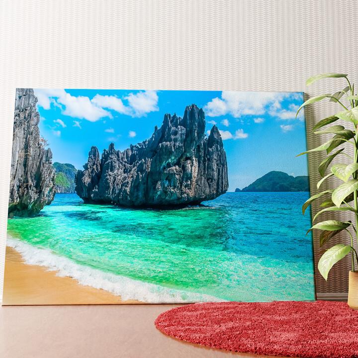 Personalisiertes Wandbild Philippinischer Strand