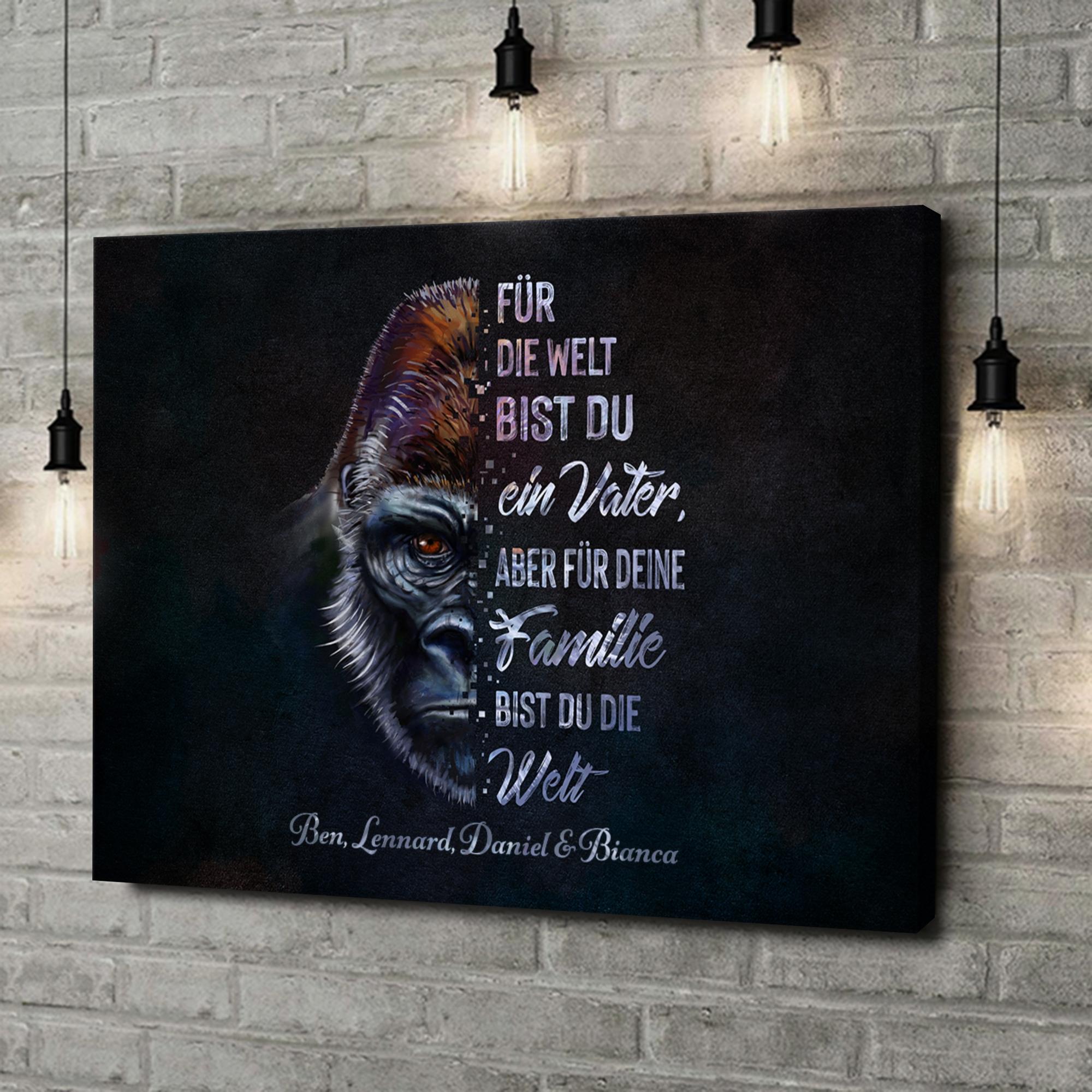 Leinwandbild personalisiert Gorillavater