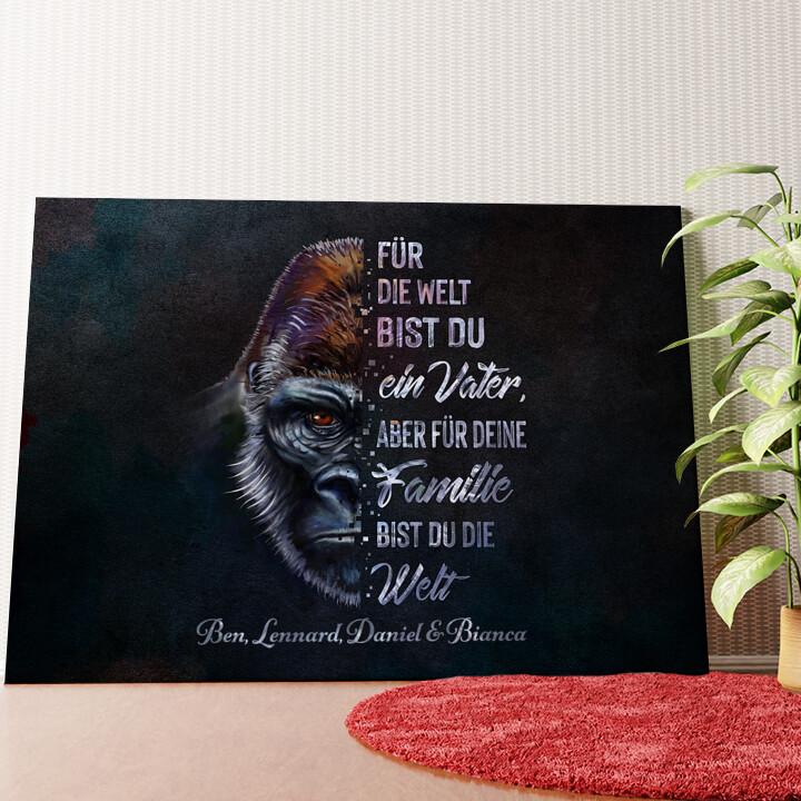 Personalisiertes Wandbild Gorillavater