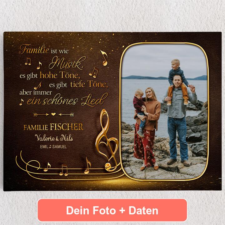 Personalisiertes Leinwandbild Familienorchester