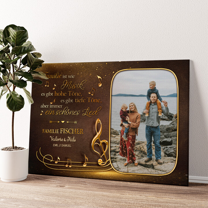 Familienorchester Wandbild personalisiert