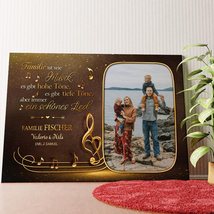 Personalisiertes Wandbild Familienorchester
