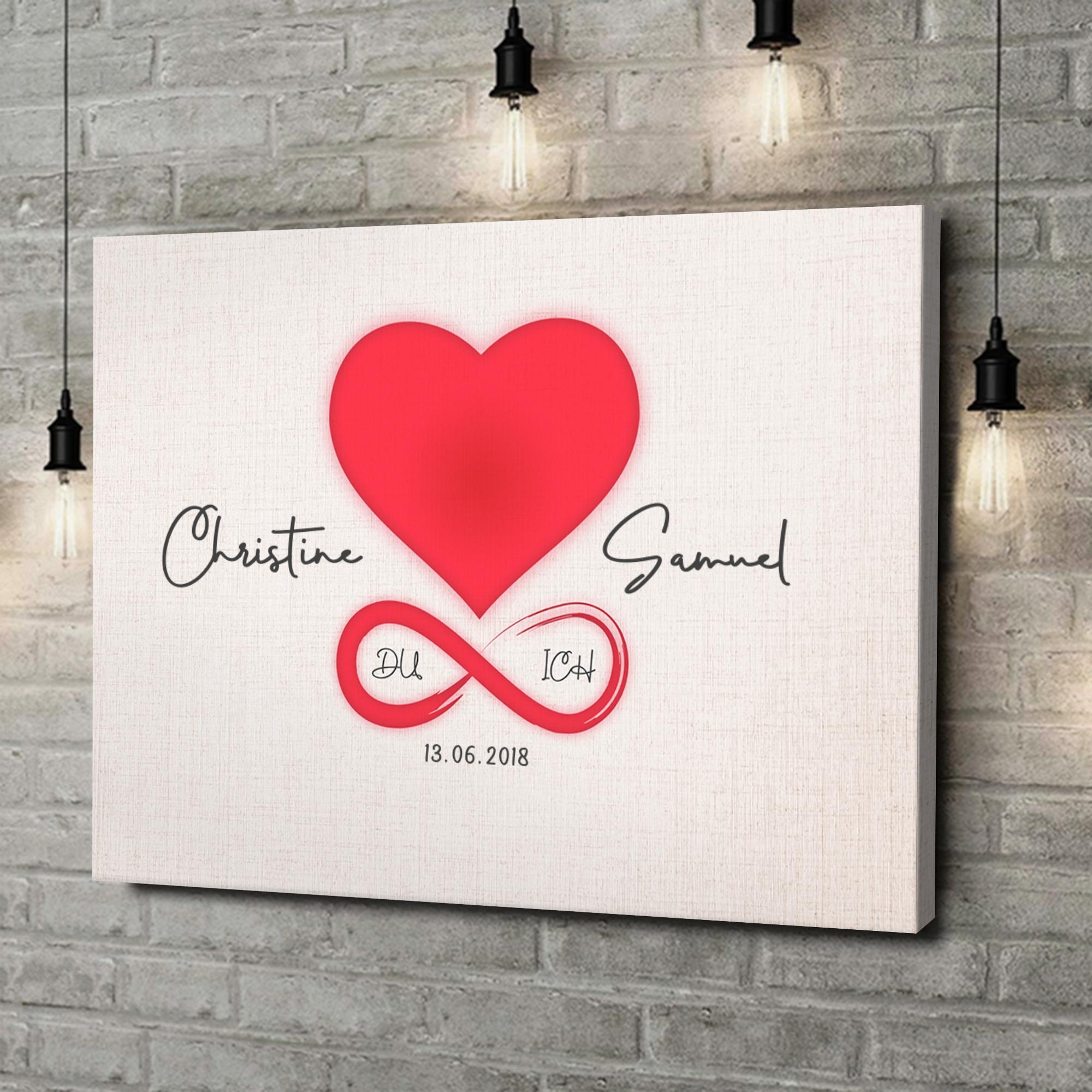 Leinwandbild personalisiert Liebe des Lebens