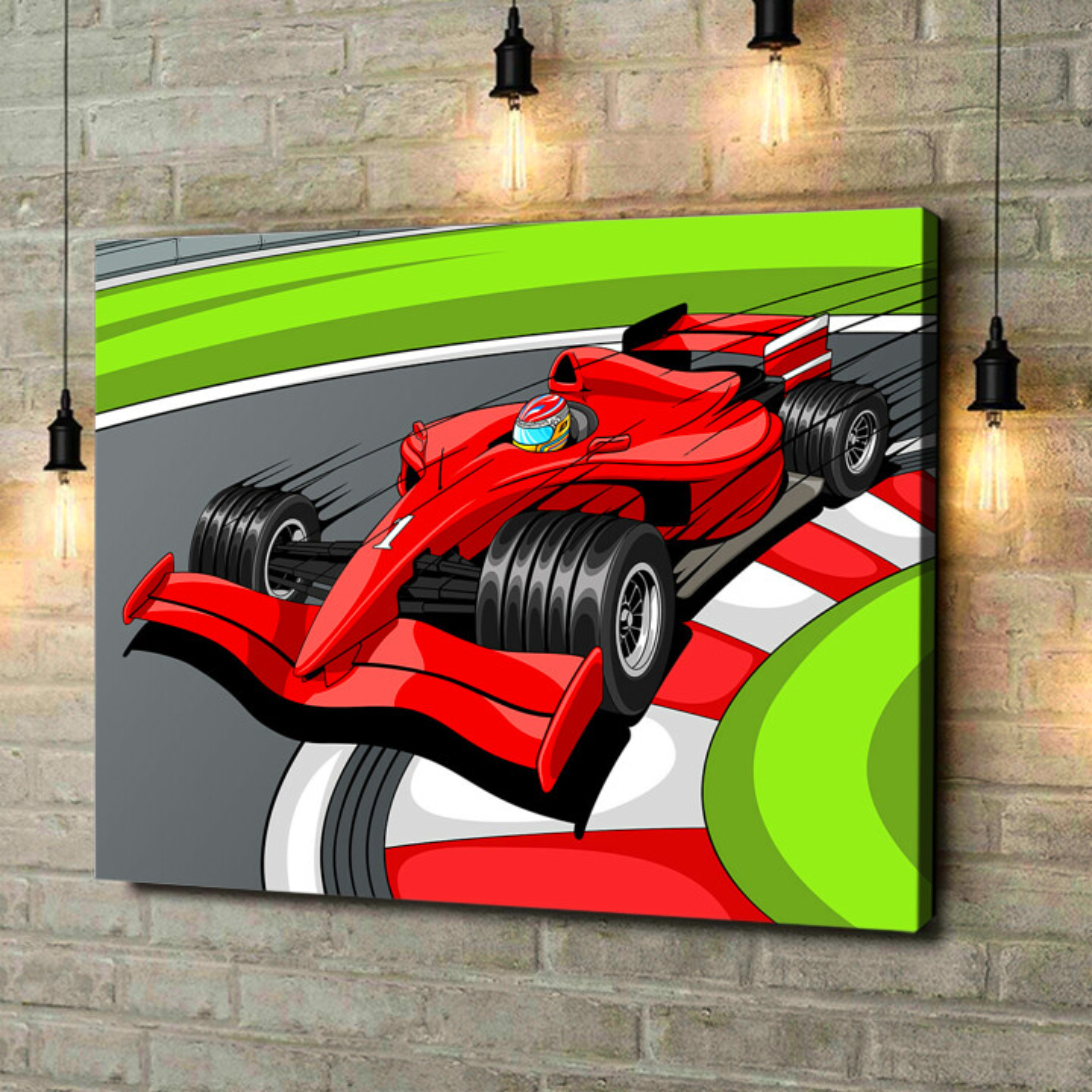Leinwandbild personalisiert Formel 1 Rennwagen