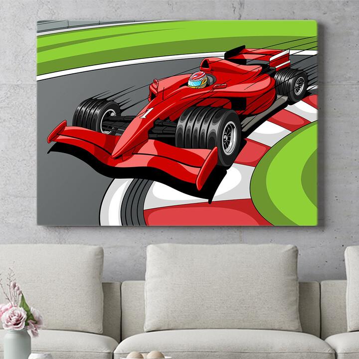 Personalisierbares Geschenk Formel 1 Rennwagen