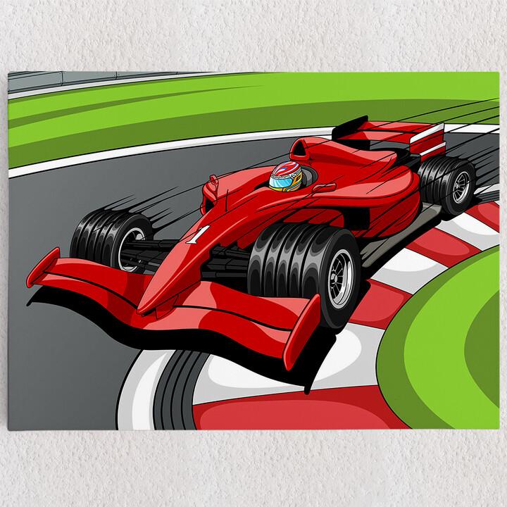 Personalisiertes Leinwandbild Formel 1 Rennwagen