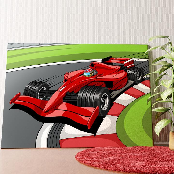 Personalisiertes Wandbild Formel 1 Rennwagen