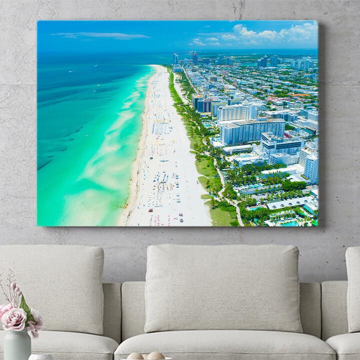 Personalisierbares Geschenk Miami Beach Skyline