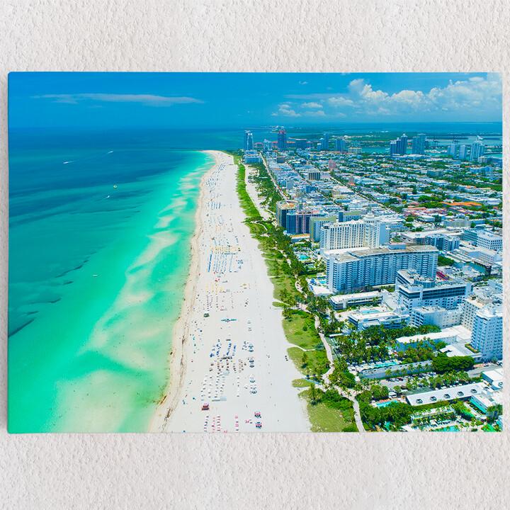 Personalisiertes Leinwandbild Miami Beach Skyline