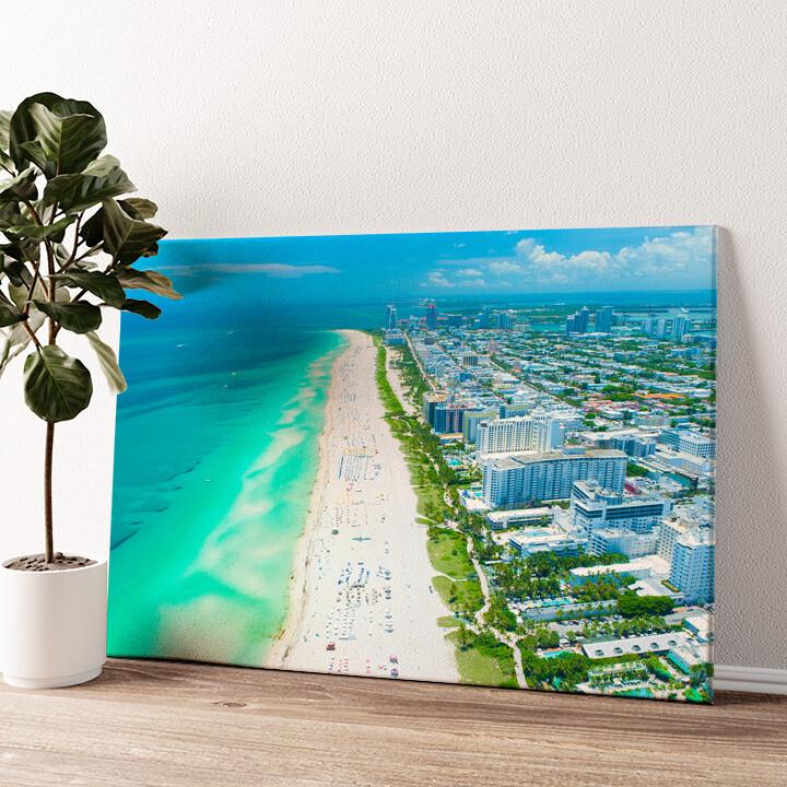 Miami Beach Skyline Wandbild personalisiert