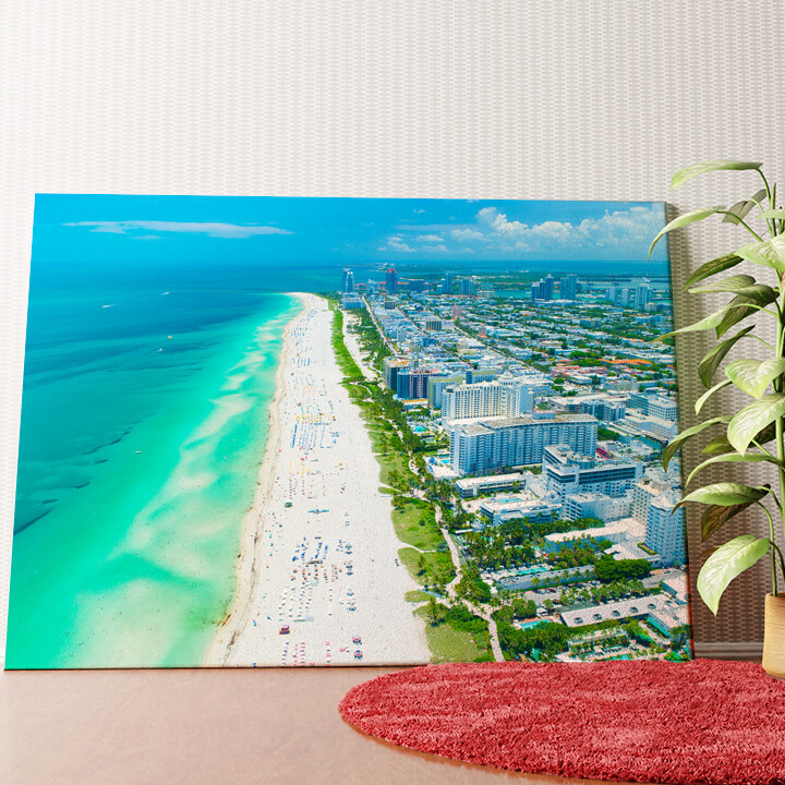 Personalisiertes Wandbild Miami Beach Skyline