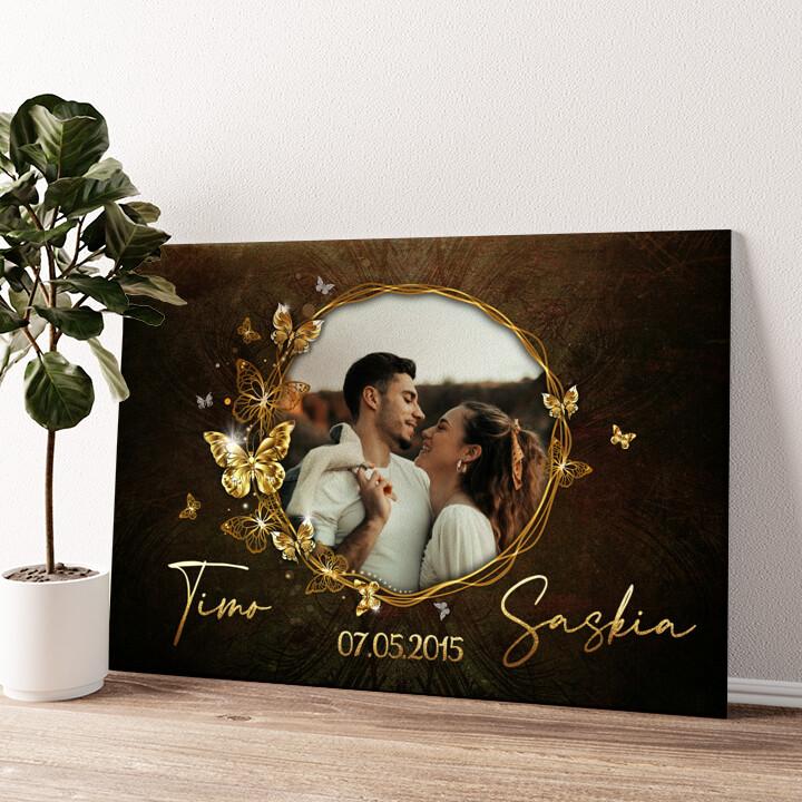 Spiegel der Liebe Wandbild personalisiert