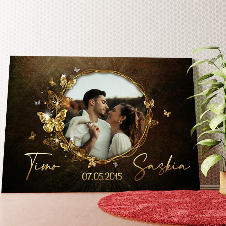 Personalisiertes Wandbild Spiegel der Liebe