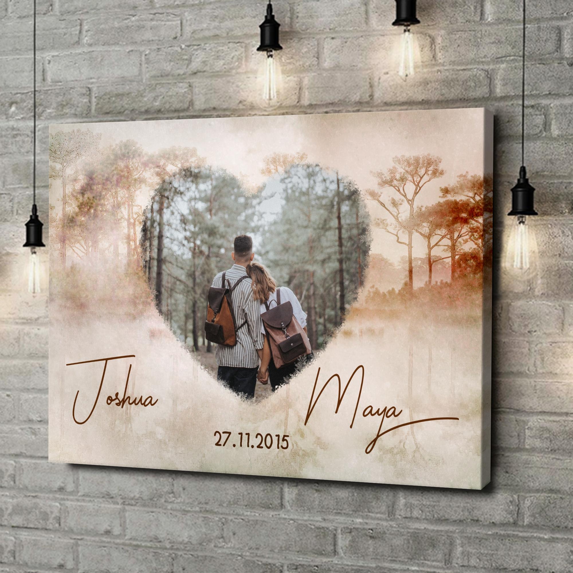 Leinwandbild personalisiert Liebe wie im Traum