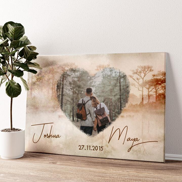 Liebe wie im Traum Wandbild personalisiert