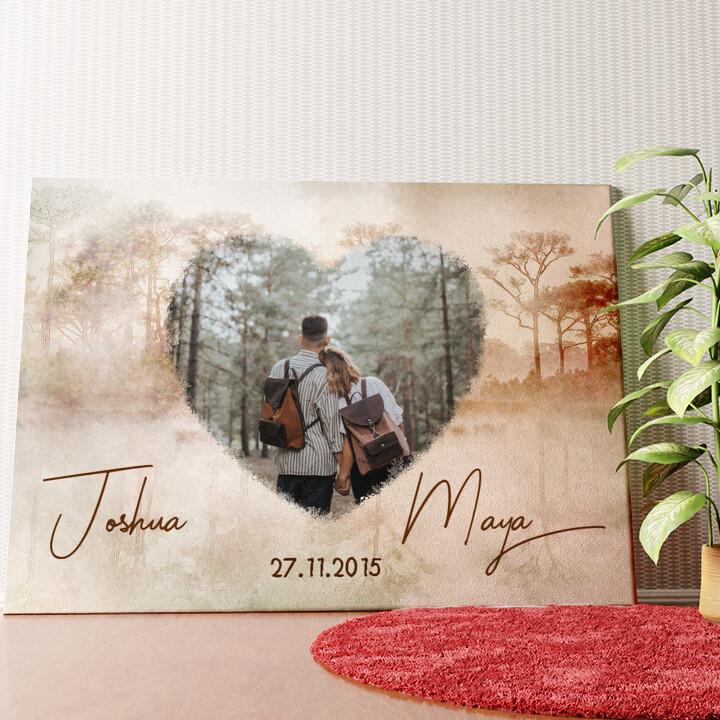 Personalisiertes Wandbild Liebe wie im Traum