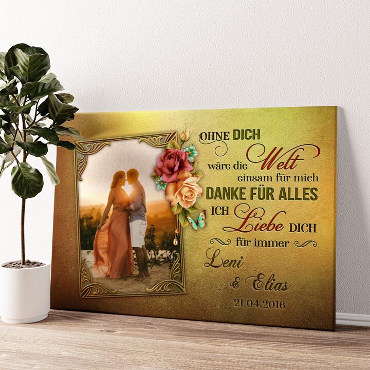 Liebe für immer Wandbild personalisiert