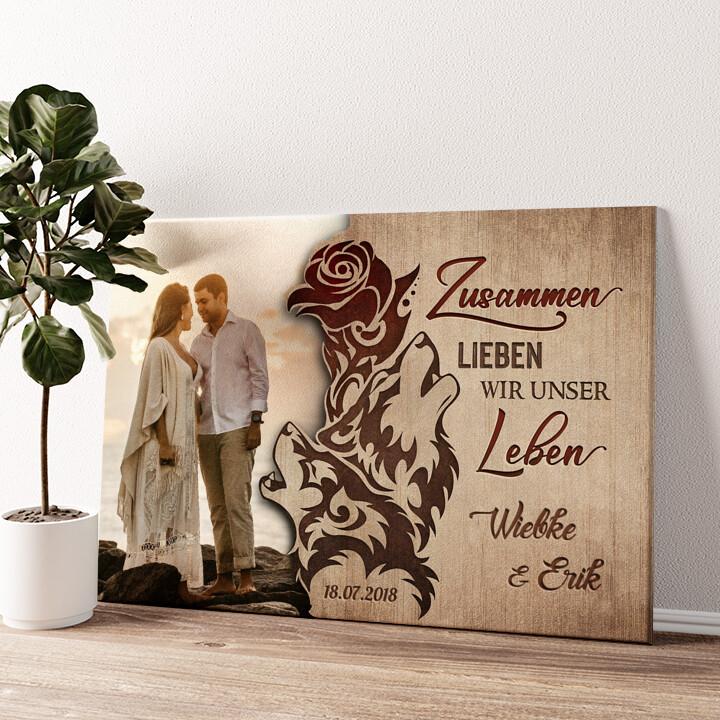 Liebesschwur Wandbild personalisiert