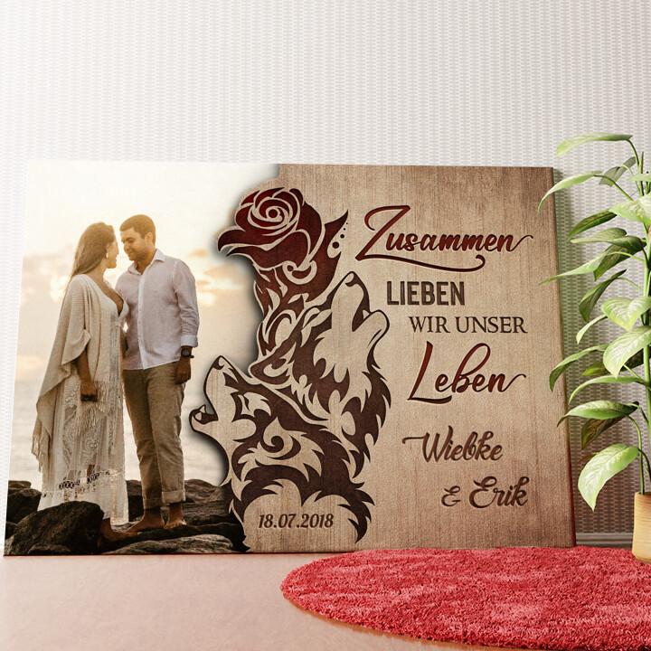 Personalisiertes Wandbild Liebesschwur
