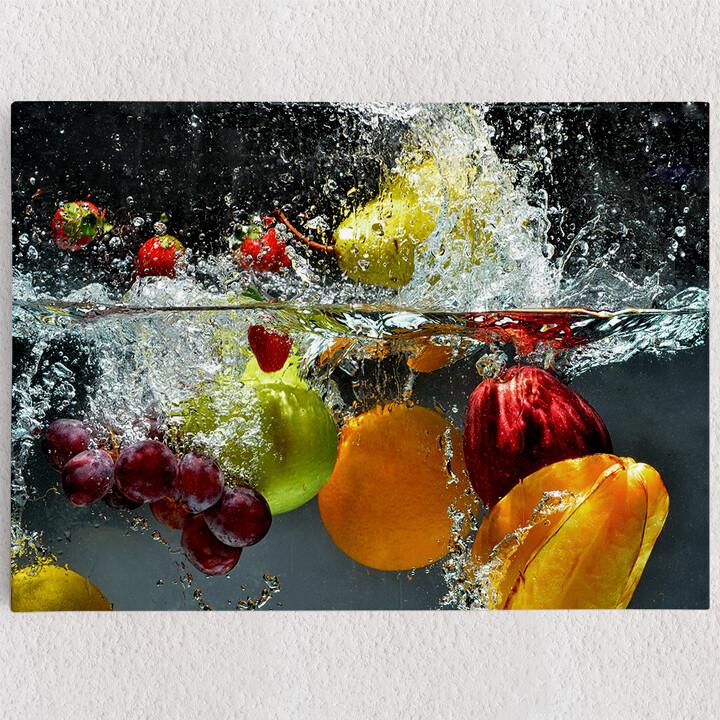 Personalisiertes Leinwandbild Frische Früchte
