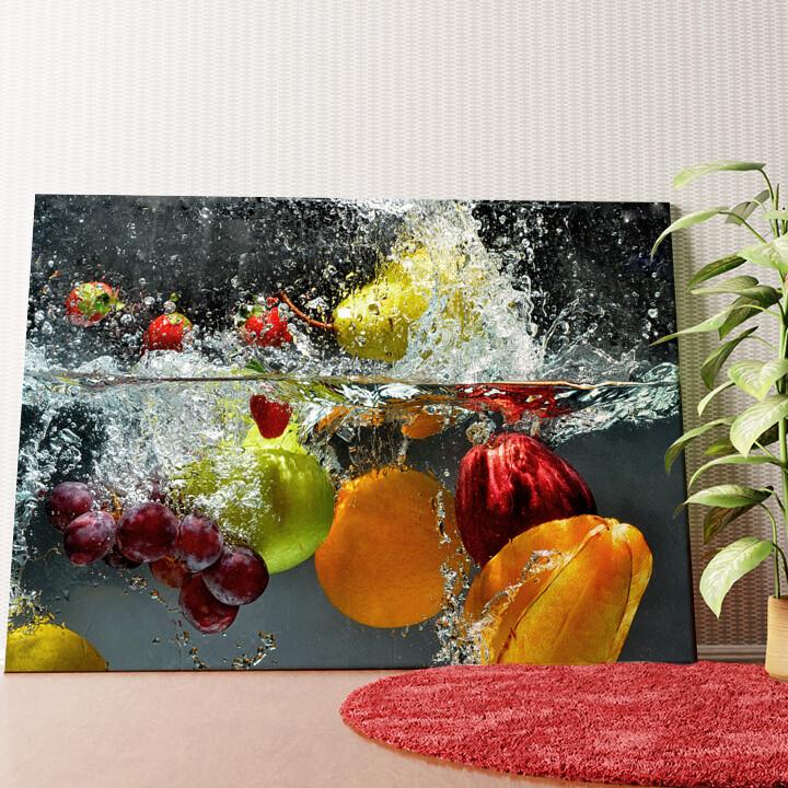 Personalisiertes Wandbild Frische Früchte