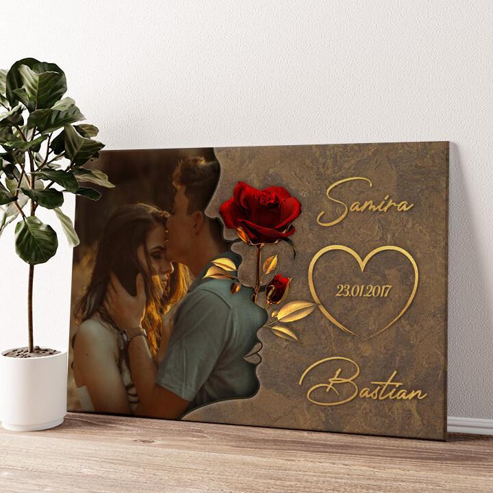 Liebesgeflüster Wandbild personalisiert