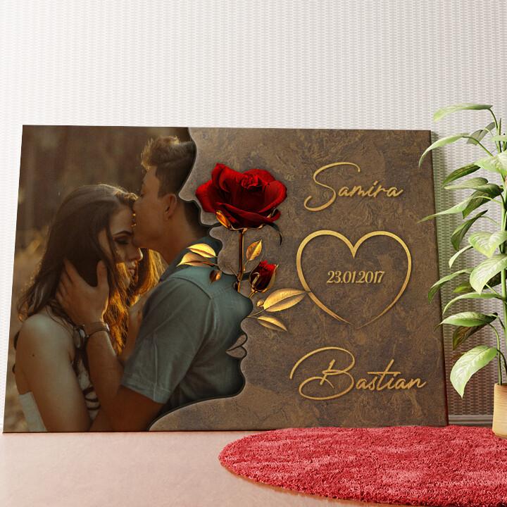Personalisiertes Wandbild Liebesgeflüster