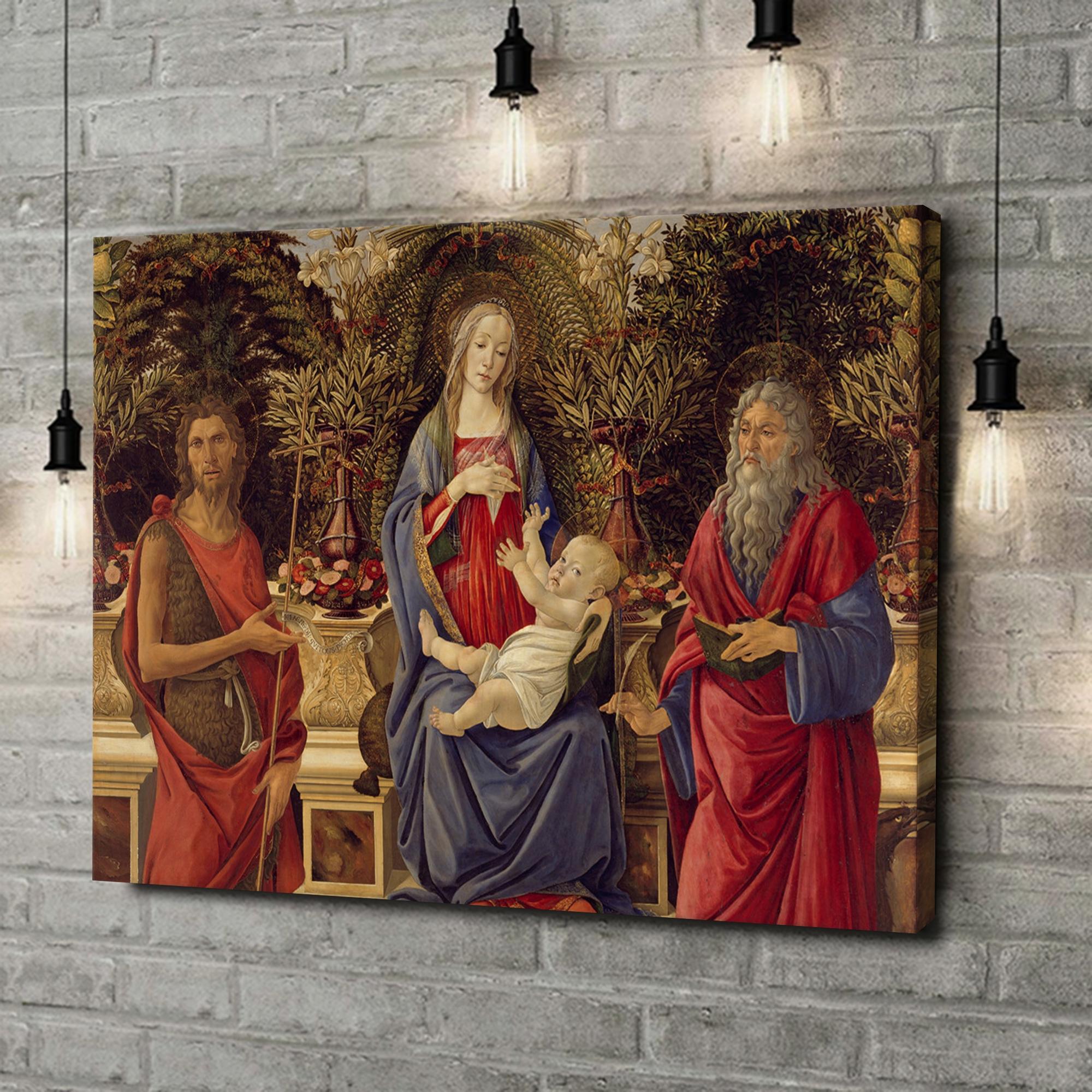 Leinwandbild personalisiert Thronende Maria mit dem Kind und den beiden Johannes
