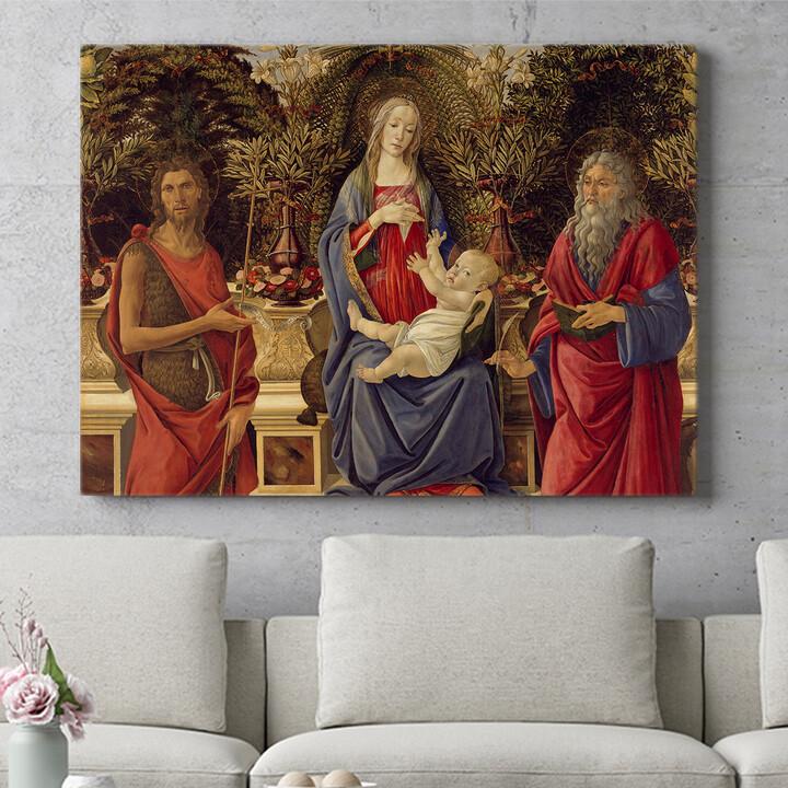 Personalisierbares Geschenk Thronende Maria mit dem Kind und den beiden Johannes