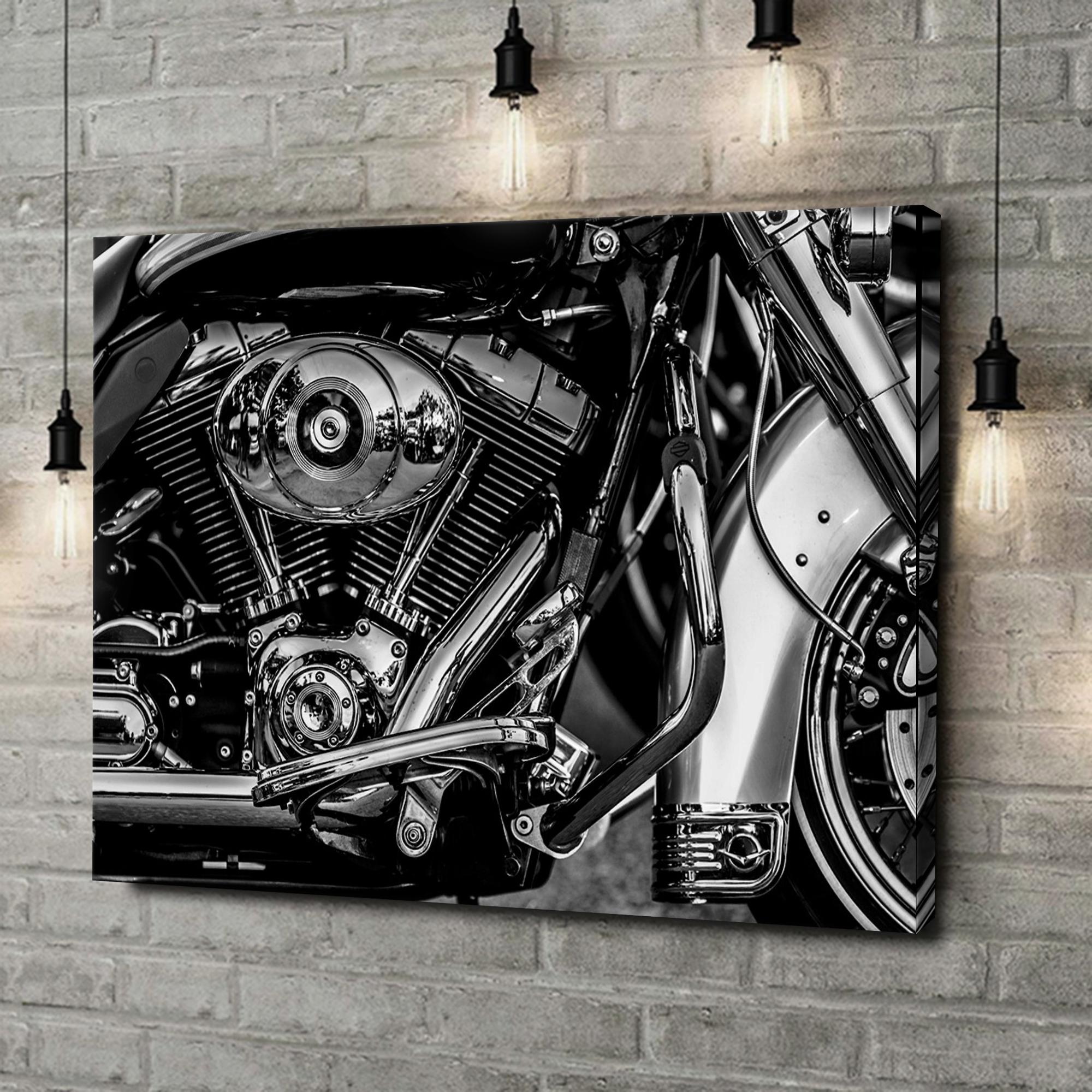 Leinwandbild personalisiert Chopper Motorblock