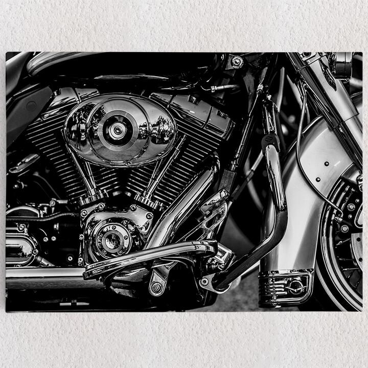 Personalisiertes Leinwandbild Chopper Motorblock