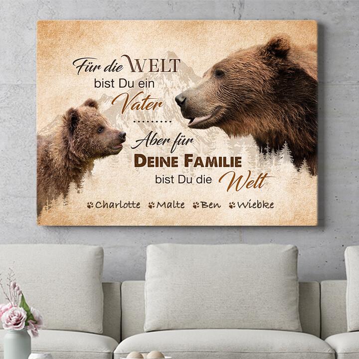Personalisierbares Geschenk Bärenvater