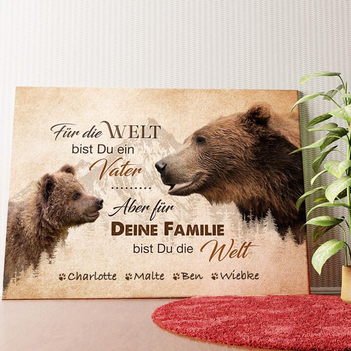 Personalisiertes Wandbild Bärenvater