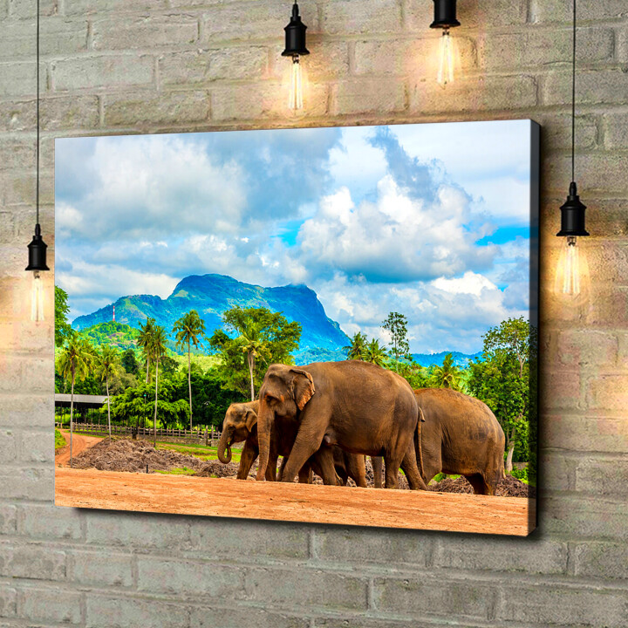 Leinwandbild personalisiert Elefanten in Sri Lanka