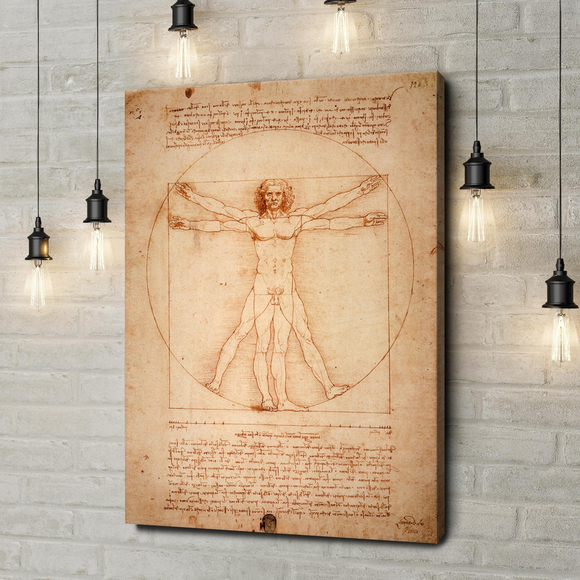 Leinwandbild personalisiert Vitruvianischer Mensch