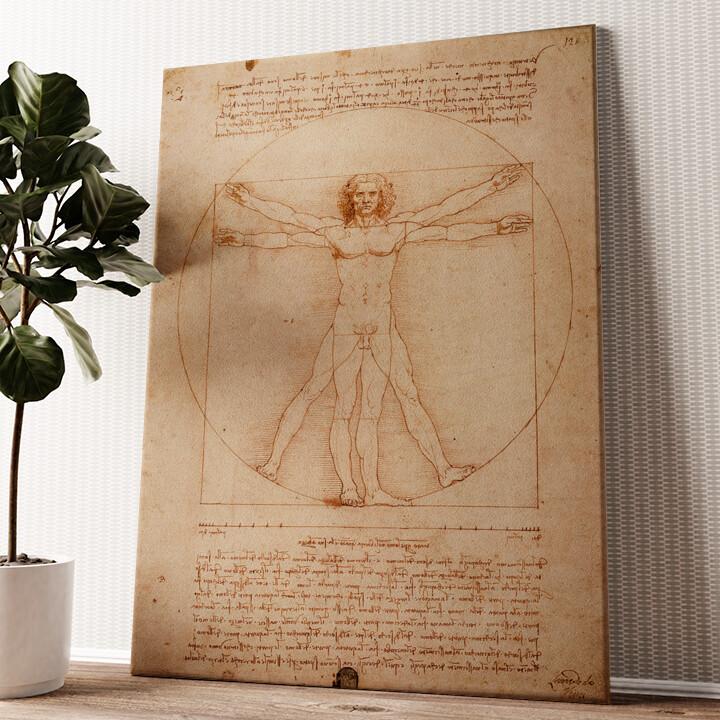 Vitruvianischer Mensch Wandbild personalisiert