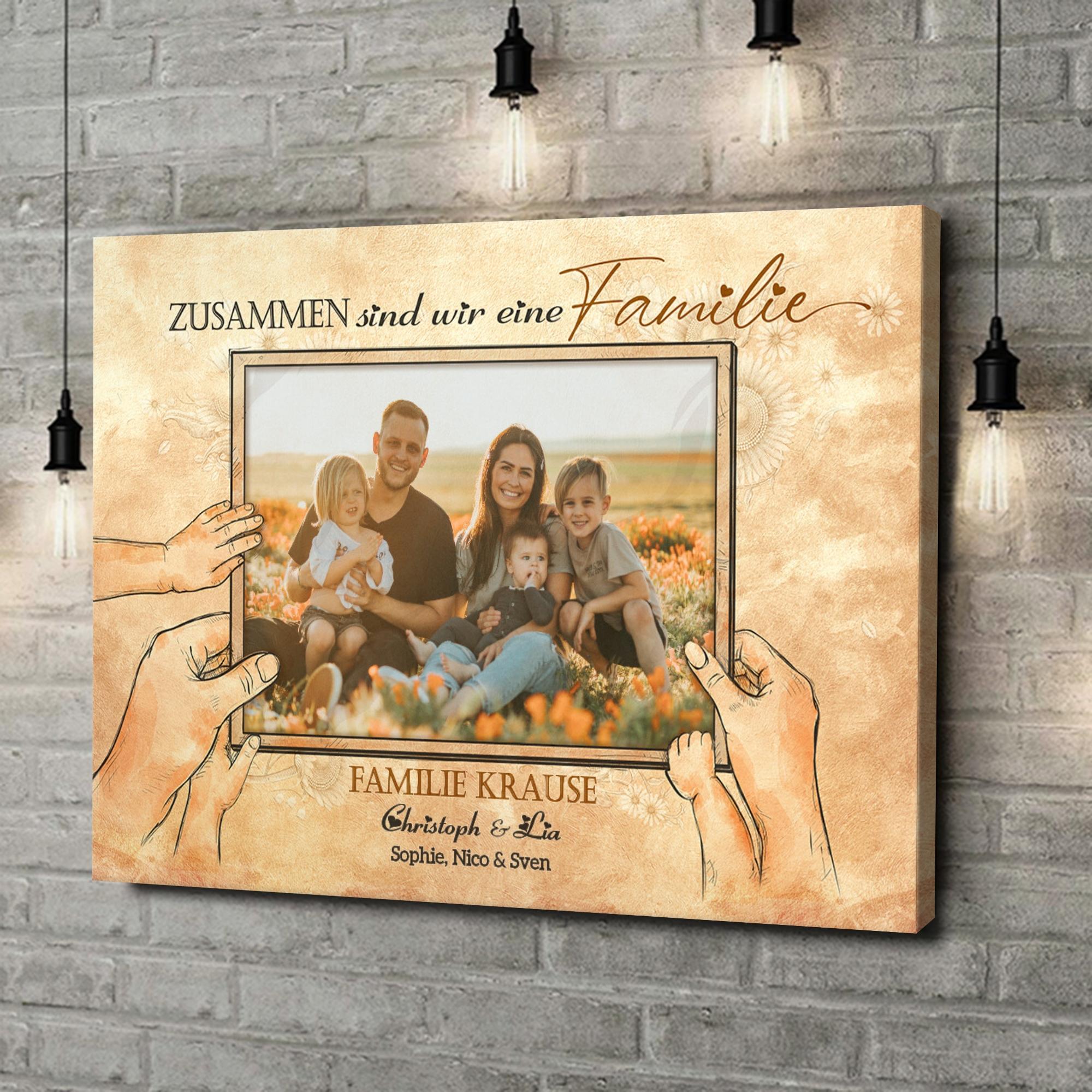 Leinwandbild personalisiert Beste Familie der Welt