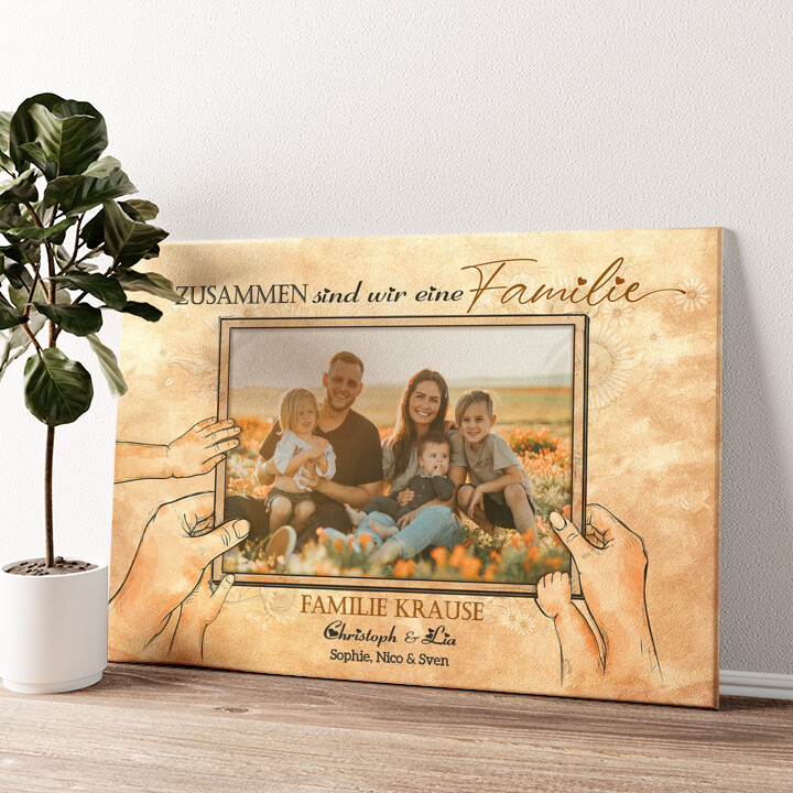 Beste Familie der Welt Wandbild personalisiert