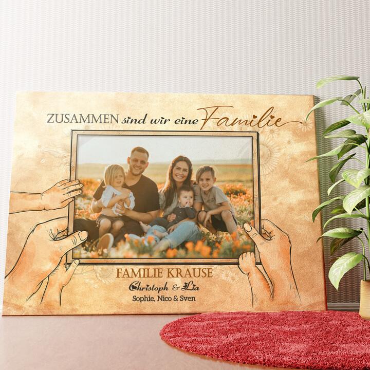 Personalisiertes Wandbild Beste Familie der Welt