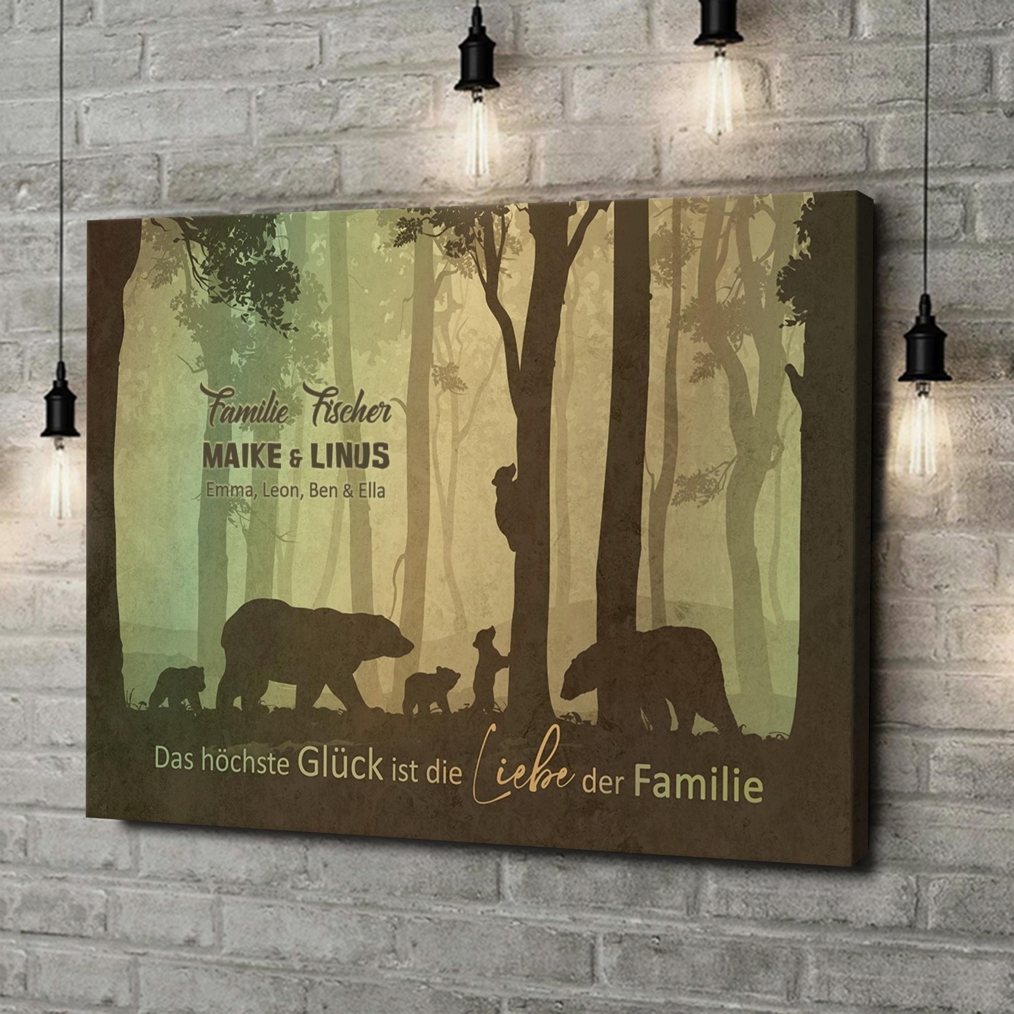 Leinwandbild personalisiert Liebe einer Familie