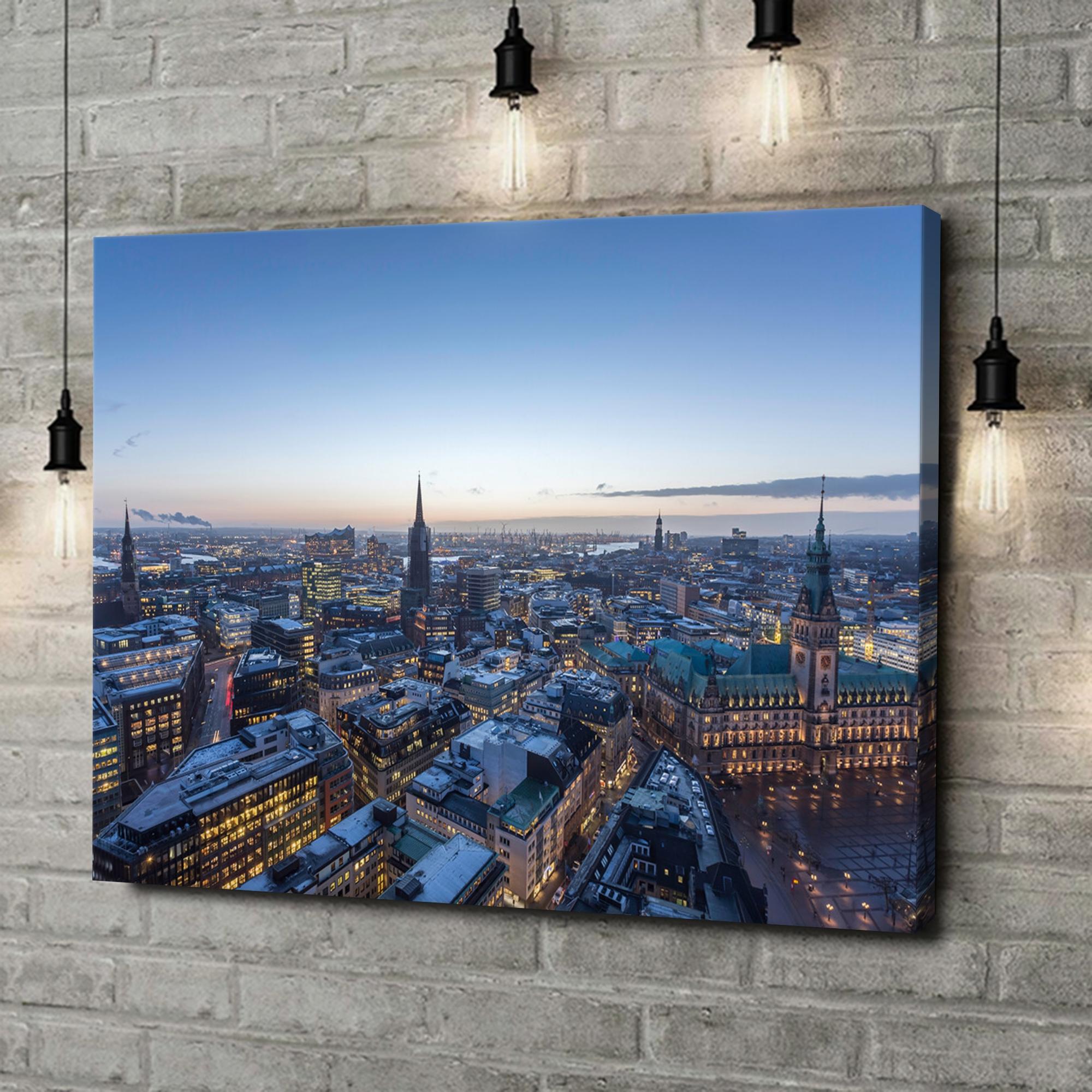 Leinwandbild personalisiert Skyline von Hamburg