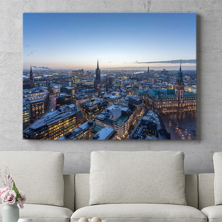 Personalisierbares Geschenk Skyline von Hamburg