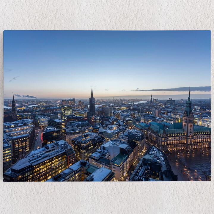 Personalisiertes Leinwandbild Skyline von Hamburg