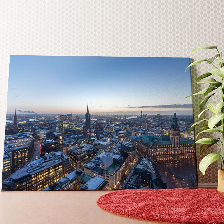 Personalisiertes Wandbild Skyline von Hamburg
