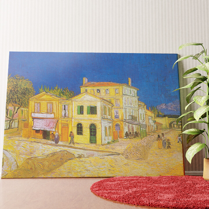 Personalisiertes Wandbild Das gelbe Haus