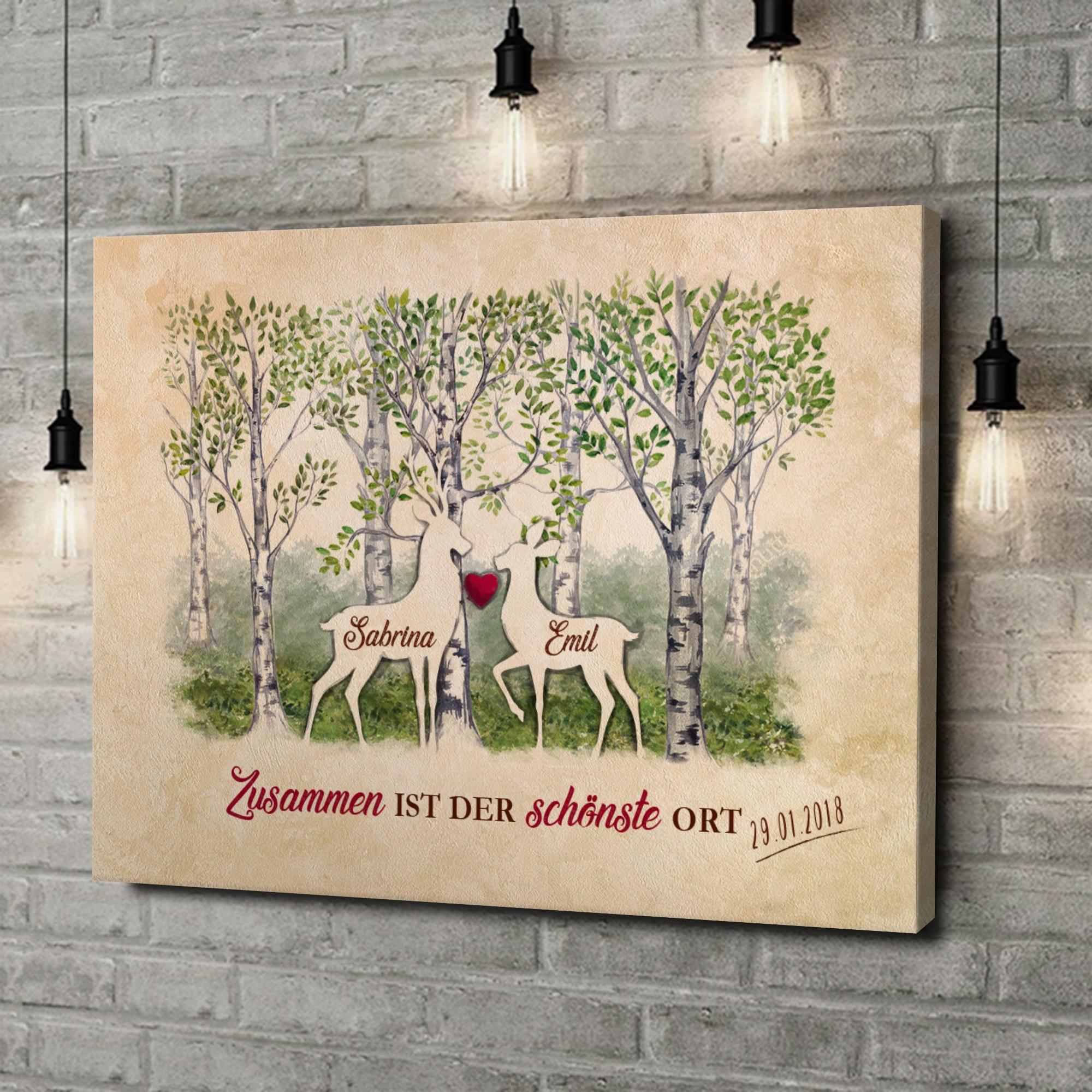Leinwandbild personalisiert Waldromantik