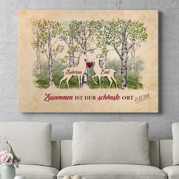 Personalisierbares Geschenk Waldromantik